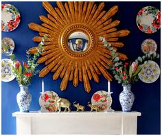 Mantle Decor for All Seasons: Bright and Bold Mantle Decor