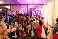 Crowds at the Memphis Pink Bridal Show, Summer 2014 | The Pink Bride www.thepinkbride.com