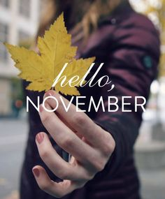 Hello, November. Let's get cozy! Can't wait for Thanksgiving in Chicago with Melissa's family, then my sister's on Saturday with my family:-) #lovetheholidays