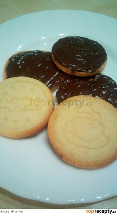 Polomáčené sušenky jako Zlaté Czech Recipes, Sweet Bakery, Sweet Cookies, Crinkles, Baking Recipes, Pie, Pudding, Cooking, Breakfast