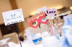 Thema:海マラソン  オリジナルテーブルガイド 手づくりのキャンドル  人生のマラソンをここからスタートさせる #aiwedding  #photo#沖縄 #okinawa #wedding #ドレス #披露宴#パーティ #ブライダル #装飾#幸せ#happy