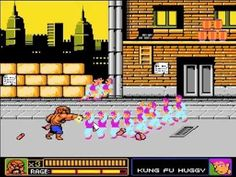 Abobo's Big Adventure (big tribute to the NES in which you play through 9 different NES games: Double Dragon, Super Mario Bros (Underwater Level), Urban Champion, Legend of Zelda, Balloon Fight, Pro Wrestling, Mega Man, Contra and Punch-out) http://www.abobosbigadventure.com/fullgame.php