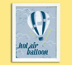 Retro Hot Air Balloon Poster  8 x 10 by Silver Lining Printing on Etsy...LOVE THIS!!
