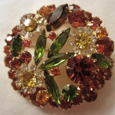 Magnificent Verified D&E Juliana Autumn Brilliance Brooch/Pin http://www.rubylane.com/item/882935-RL-1532/Magnificent-Verified-D-E-Juliana
