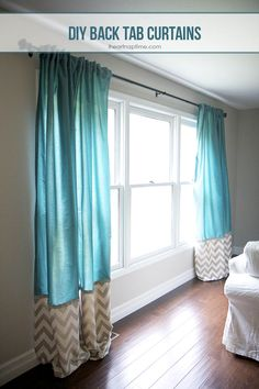 living room love the colors in this room DIY Back Tab curtains & Hanging tip~ Heart Nap Time great tutorial Want this rug! Home Projects, Home Crafts, Diy Home Decor, Room Decor, Diy Crafts, Hm Deco, Home Living, Living Room, Tab Curtains