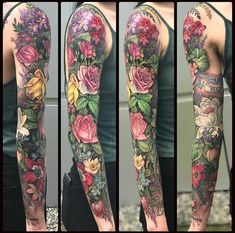 Floral Sleeve by Rae at Unkindness Art in Richmond VA