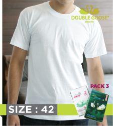 213 เสื้อคอกลมบุรุษสีขาว Pack 3 ขนาด 42