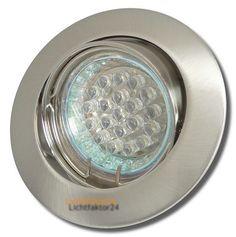 LED Decken Einbaustrahler Jan 230Volt Downlights 1.5W - LED Warmweiss 2700K Spot