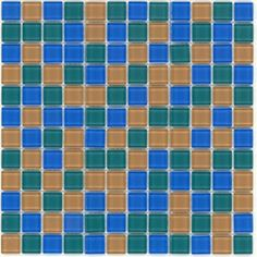 Elida Ceramica�Summer Glass Mosaic Square Wall Tile (Common: 12-in x 12-in; Actual: 11.75-in x 11.75-in)