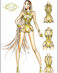 Fashion Design Drawings, Fashion Sketches, Casual Summer Outfits For Teens, Fashion Drawing Dresses, Versace Dress, Atelier Versace, Poses, Designs To Draw, Fashion Art