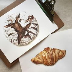 要吃牛角可頌還是黑麥麵包咧?  #watercolor#illustration#illustrator#winsorandnewton#paint#painting#draw#drawing#art#artwork#artist#bread#ryebread#水彩#插畫#雪莉畫日誌#黑麥麵包#麵包#dessert#可頌#taiwan#croissants