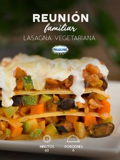 Lasagna Vegetariana, Veggie Recipes, Pasta Recipes, Healthy Food Options, Healthy Recipes, Food Porn, Deli Food, Cooking Time, Love Food