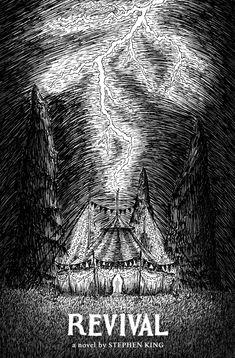 Revival fan art poster by AgusSB. Made with black ink + digital Horror Books, Horror Movies, Stephen King Novels, Horror Posters, Book Cover Art, Dark Art, Fan, Art Prints, Digital