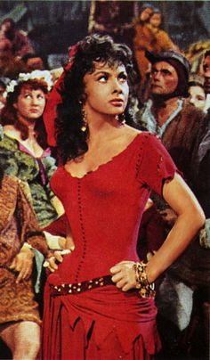 Gina Lollobrigida as Esmeralda- one of my favorite old movie stars, and the best version of Hunchback I have seen