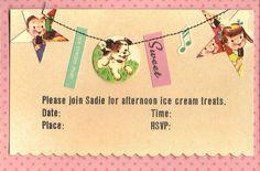 Cute invitations to make.
