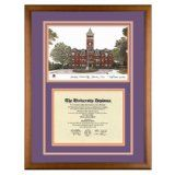 Clemson University (South Carolina) Diploma Frame with Lithograph Art PrintBy Old School Diploma Frame Co.