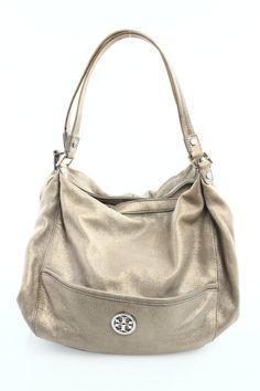 Tory Burch Gold Leather Shoulder Bag - $45