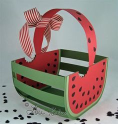 watermelon basket and card empty 4 (Large) Watermelon Basket, Watermelon Patch, Watermelon Crafts, Watermelon Baby, Watermelon Birthday Parties, Fruit Party, 2nd Birthday Parties, Diy Birthday, Birthday Gifts