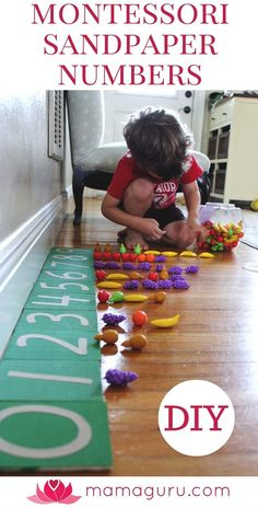 Montessori Sandpaper Numbers are a fantastic way to begin teaching your child math. The idea behind them is that children are tactile…