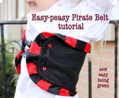 sew easy being green: Easy-peasy Pirate Belt Tutorial
