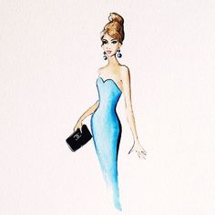 Blue strapless dress #dress #clutch #bag #chanelbag #chanel #hair #hairstyle…