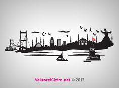 Vektörel Çizim | Tasarımlarınız İçin Vektörel İstanbul Silüetleri