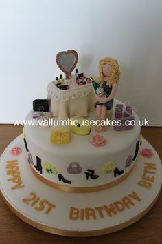 girly Dressing table birthday cake