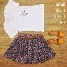 Equilíbrio❤️ #lojaamei #muitoamor #tshirt #saia #equilibrio #sandalia #etiquetaamei #chicorei