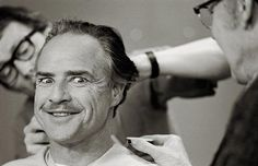 JOJO POST FATHER: ClassicPics @History_Pics Marlon Brando having ageing make-up done for The Godfather. He was only 47 when he was cast as Vito. New York, 1971