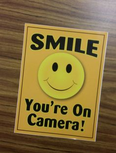 Smile You're On Camera Decal by BudgetCollections on Etsy
