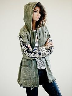Golden Quills Military Parka on shopstyle.com