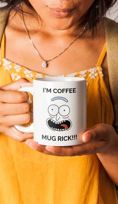 Rick Morty Mug - Pickle Rick Parody - Funny Rick Sanchez Coffee Cup - Great Gift for Rick and Morty Fans - American Made - 11oz 15oz