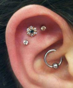 Rook Piercing Earring at MyBodiArt - Silver Captive Bead Hoop
