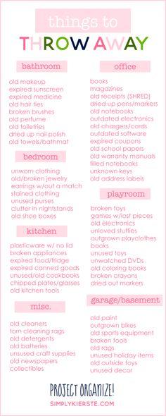 Things to Throw Away | Get Organized! | simply kierste.com