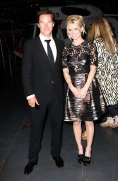 Benedict Cumberbatch with Alice Eve