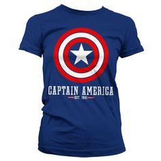 Kapitan Ameryka Shield Koszulka Damska