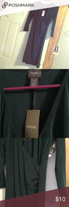 Chico's dress Green tight dress spandex Chico's Dresses Midi