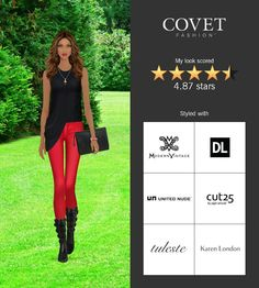 Covet Fashion Game. Look: Distinctive Boots