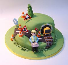 Road and Rail Engineer's Cake photo by The Great Little Food Company from Flickr at Lurvely
