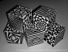 6th grade OP art cubes