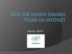 The best job search engines knowledgement