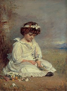 Sir John Everett Millais, 1892, Little Speedwell Darling Blue. Oil on canvas. Gallery: Lady Lever Art Gallery, Port Sunlight