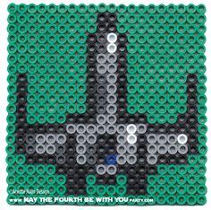 X-Wing Perler Bead Coaster