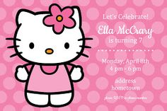 Free printables - Hello Kitty invitation, welcome poster and toppers