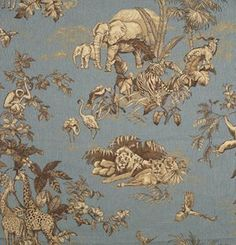16278-004 African Toile Printed Toile by Scalamandre