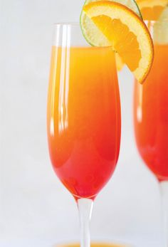 Tequila sunrise mimosa