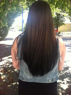 Reverse brown to black ombre