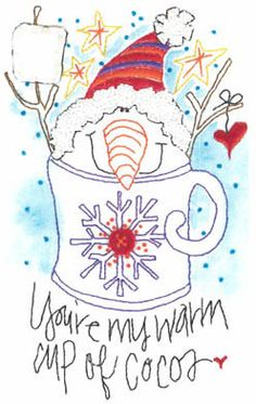 Cup Of Cocoa - Embroidery pattern