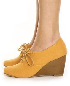 d8e6c8ae436c Chelsea Crew Sari Mustard Canvas Summer Oxford Wedges 65.00 Oxford Heels