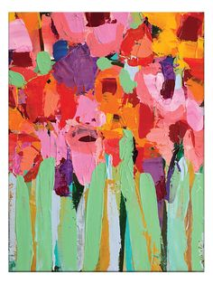 Field of Flowers by Anna Blatman (Canvas)